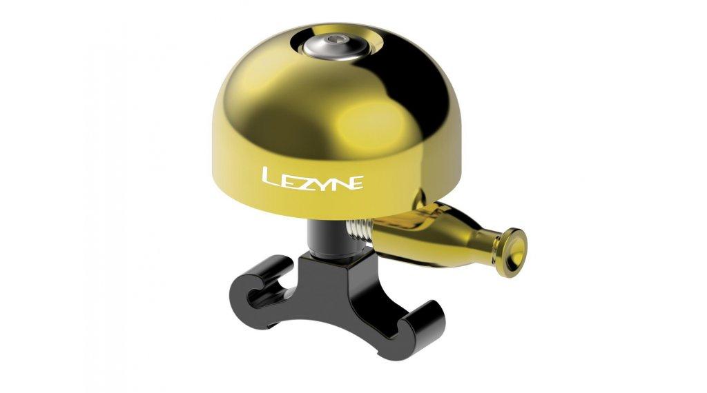 Lezyne Classic Brass 自行车铃 型号 M 黄铜 抛光
