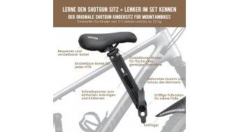 Shotgun MTB Front Детско столче за велосипед/кормило-Комплект черно
