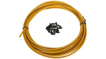 Jagwire CGX brake cable casing geflochten 5,0mm gold (9,00m incl. 30 End pods )