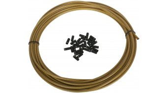 Jagwire LEX funda de cable de cambio geflochten 4,5mm dorado(-a) (7,62m incl. 30 vainas finales)