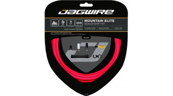 Jagwire Mountain Elite Sealed Schaltzugset rot