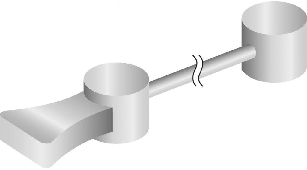 Jagwire Canti Querkabel zylindrischer Nippel 380mm silber