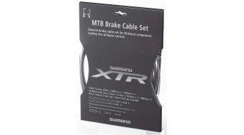 Shimano XTR juego cables de freno grises/as completo con 2 cables Bowden y vainas finales