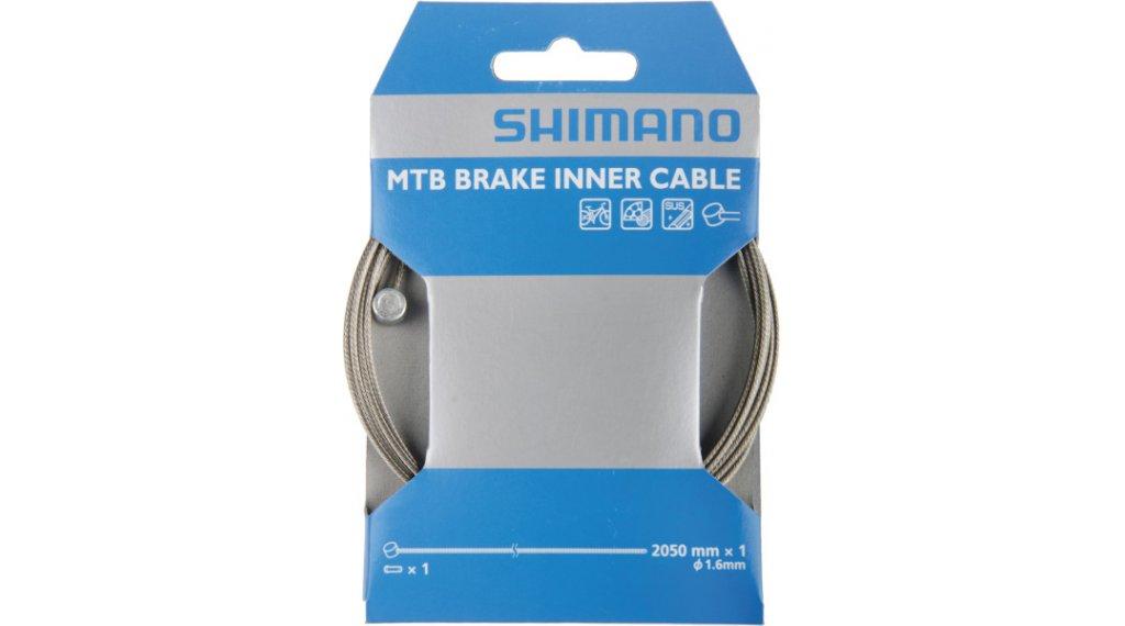 Shimano brzdové lanko 1,6x2050mm nerezová ocel MTB