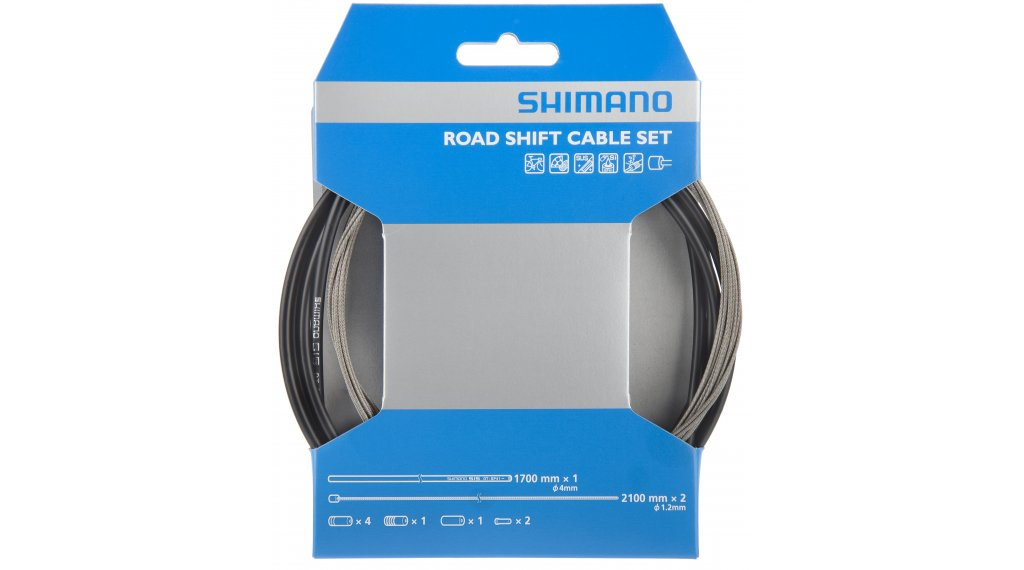 Shimano Road inner shift cable- set complete black incl. Tüllen and End caps