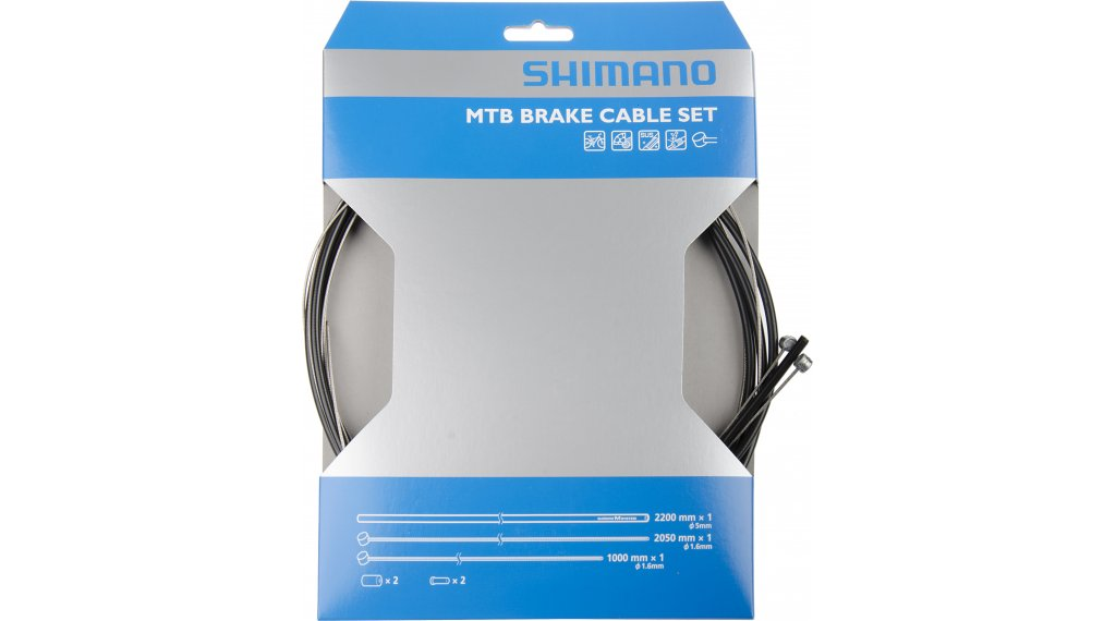 Shimano MTB set cavi freno nero SUS