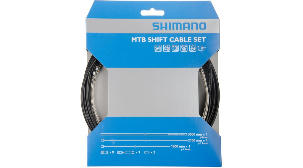 Shimano Deore inner shift cable- set complete with 2 cable and crimps